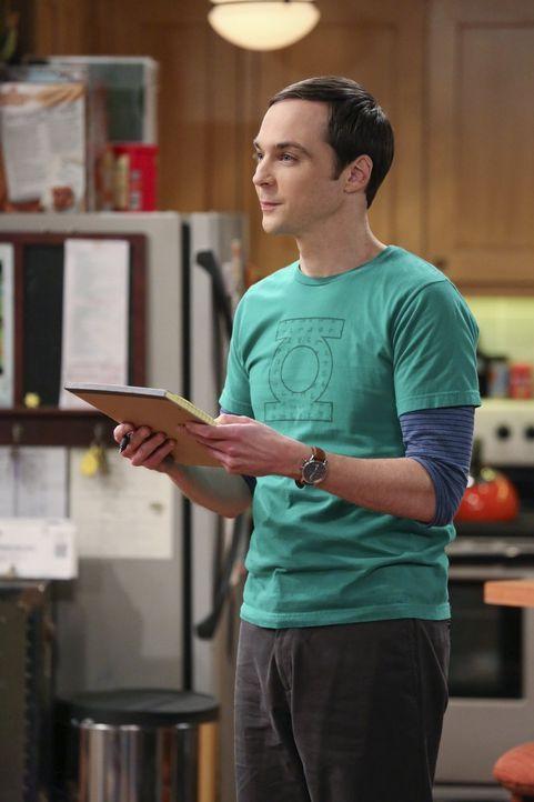 Mit aller Kraft versucht Sheldon (Jim Parsons) zu lernen, wie man Menschen zum Lachen bringt ... - Bildquelle: Warner Brothers