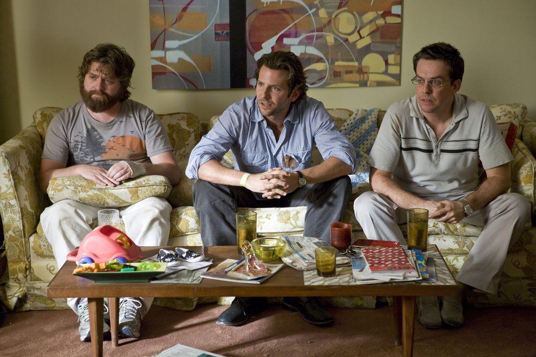 Zum Junggesellenabschied fahren Doug, der Bräutigam in spe, und seine drei Freunde nach Las Vegas und quartieren sich im Caesar's Palace ein. Am n - Bildquelle: Warner Brothers