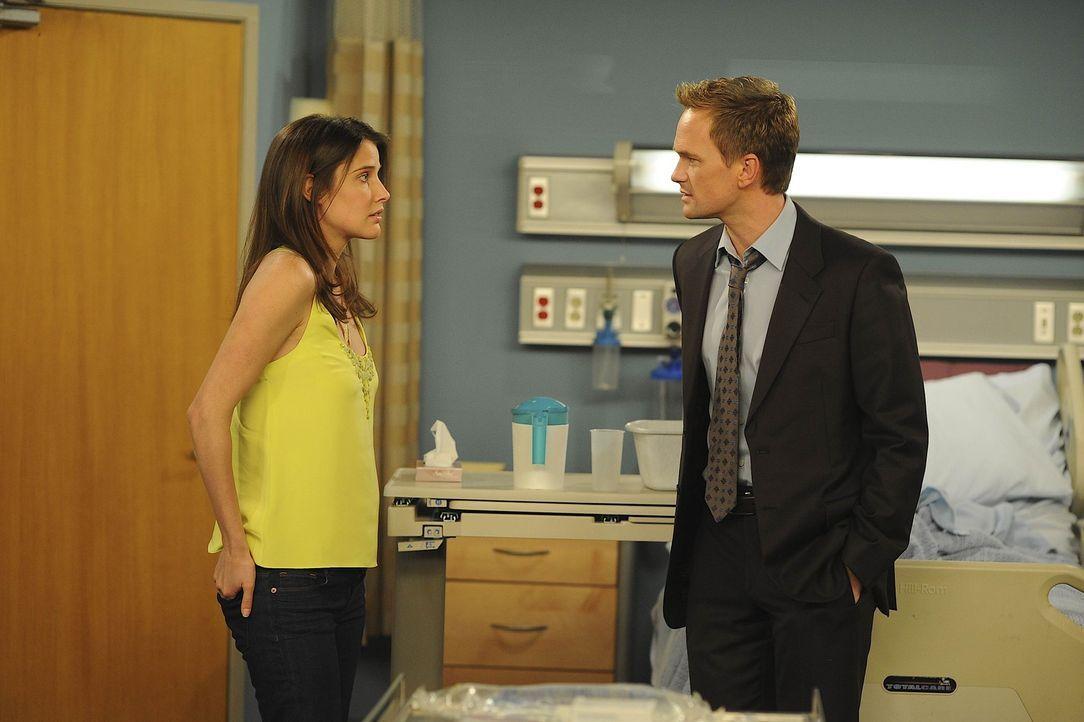 Während Ted bereits aus dem Krankenhaus entlassen wurde, kommen sich Barney (Neil Patrick Harris, r.) und Robin (Cobie Smulders, l.) etwas näher ... - Bildquelle: 20th Century Fox International Television