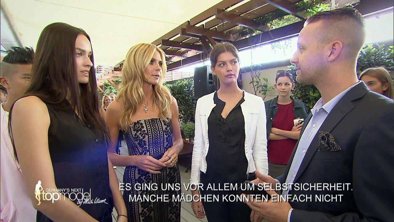 GNTM-Stf10-Epi09-Casting-Heidi-Klum-Intimates-02-ProSieben - Bildquelle: ProSieben