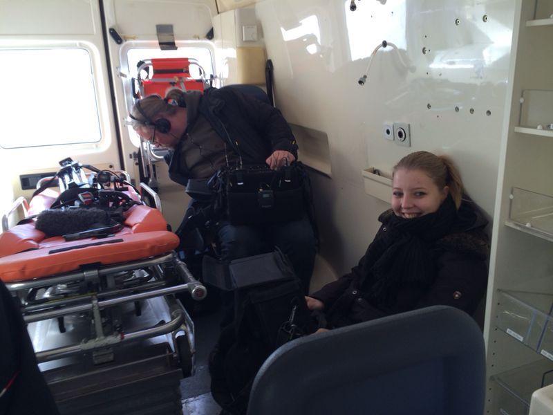 Dreharbeiten im Krankenwagen