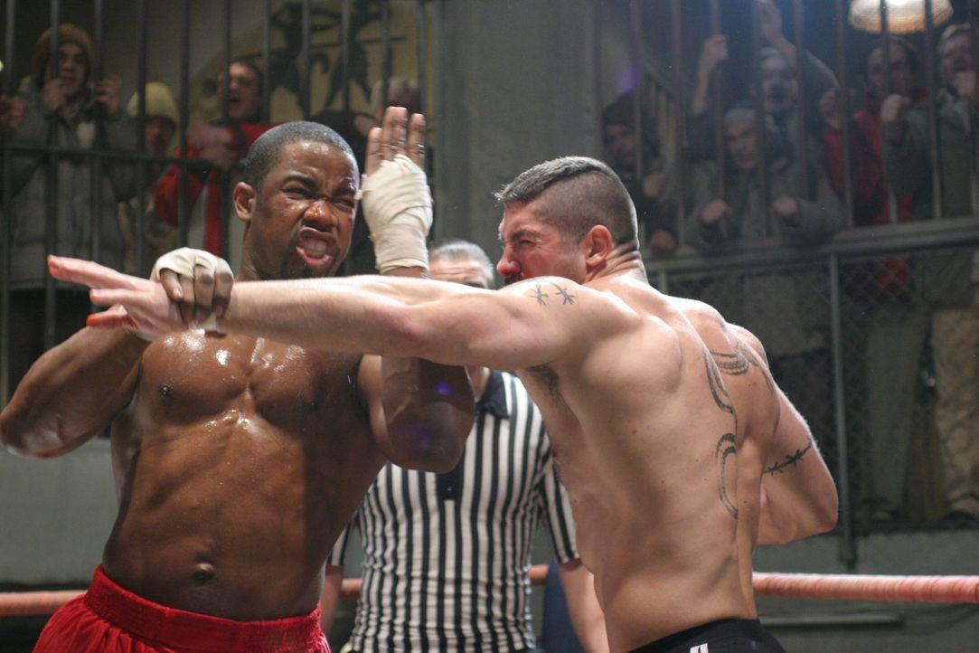 Schwergewichtsboxer George Chambers (Michael Jai White, l.) sitzt unschuldig im Gefängnis. Dort wird er Knastkämpfen gezwungen, mit denen ein Unte... - Bildquelle: Nu Image Films