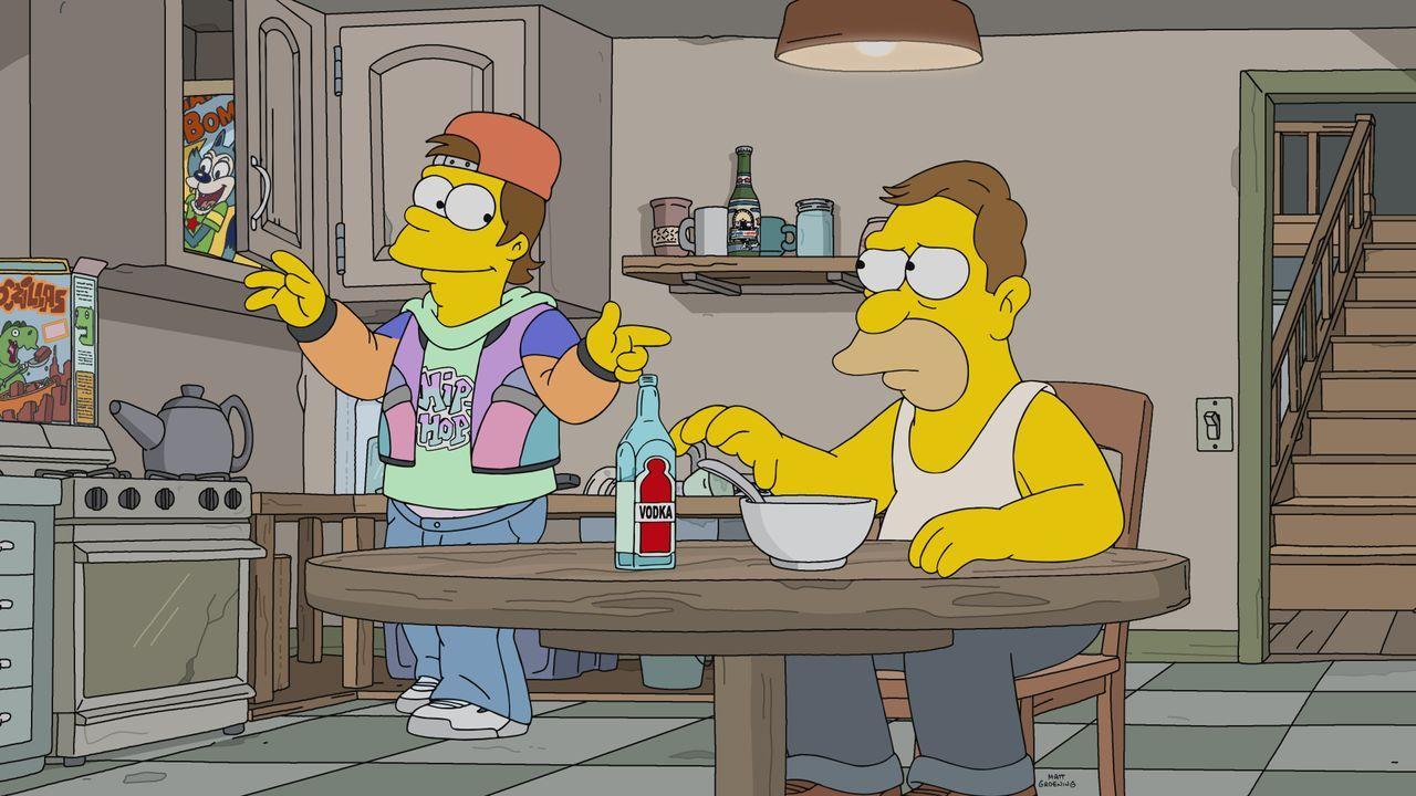 Homer (l.); Abe (r.) - Bildquelle: 2021 by 20th Television.