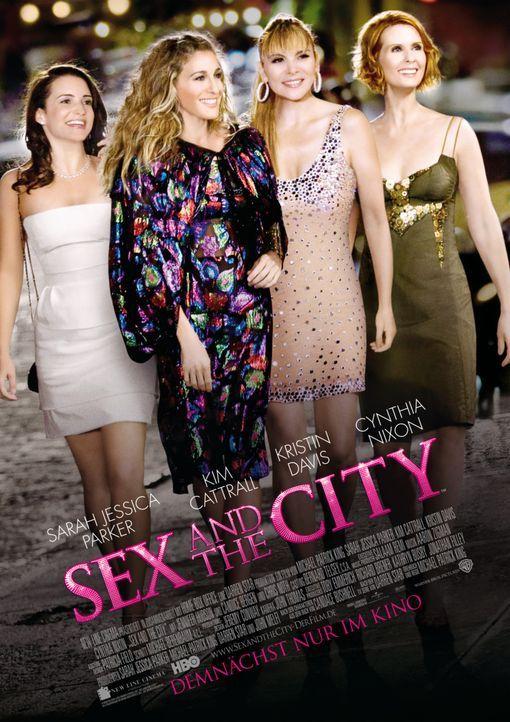 Sex, Liebe, Mode und Männer: Die vier starken Frauen Charlotte (Kristin Davis, l.), Carrie (Sarah Jessica Parker, 2.v.l.), Samantha (Kim Cattrall,... - Bildquelle: Warner Brothers