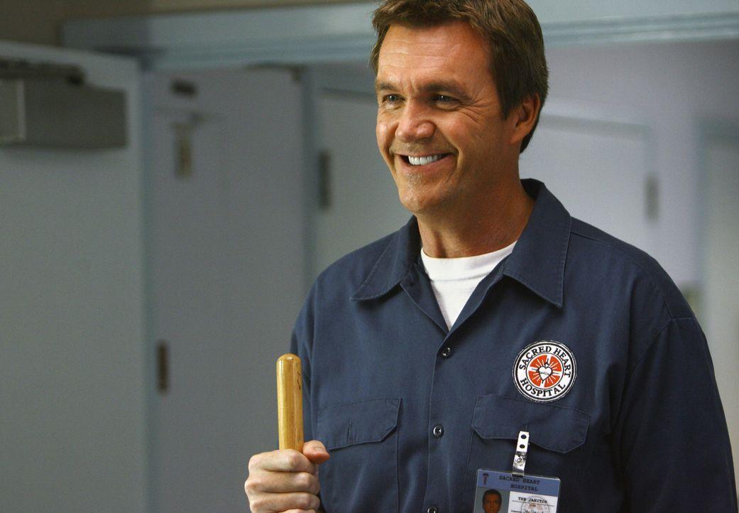 Noch freut er sich über die Ankunft der neuen Ärztin im Krankenhaus: der Hausmeister (Neil Flynn) ... - Bildquelle: Touchstone Television