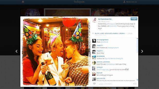 Mileys Birthday Bash bei den AMAs - Bildquelle: Instagram/Kelly Osbourne