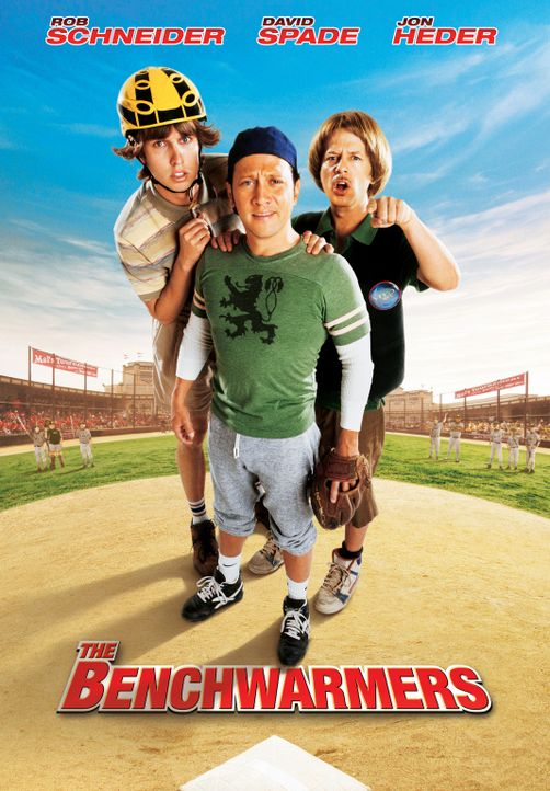 "Clark (Jon Heder, l.), Gus (Rob Schneider, M.) und Richie (David Spade, r.) sind die ""Benchwarmers"". - Bildquelle: Sony Pictures Television International. All Rights Reserved."