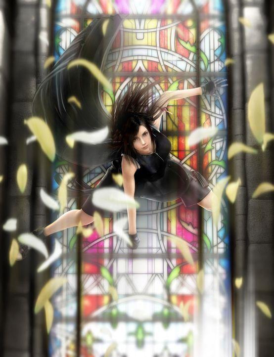 Als gute Freundin unterstützt Tifa Cloud bei der Suche nach den entführten Kindern ... - Bildquelle: 2005 Square Enix Co., LTD. All Rights Reserved.