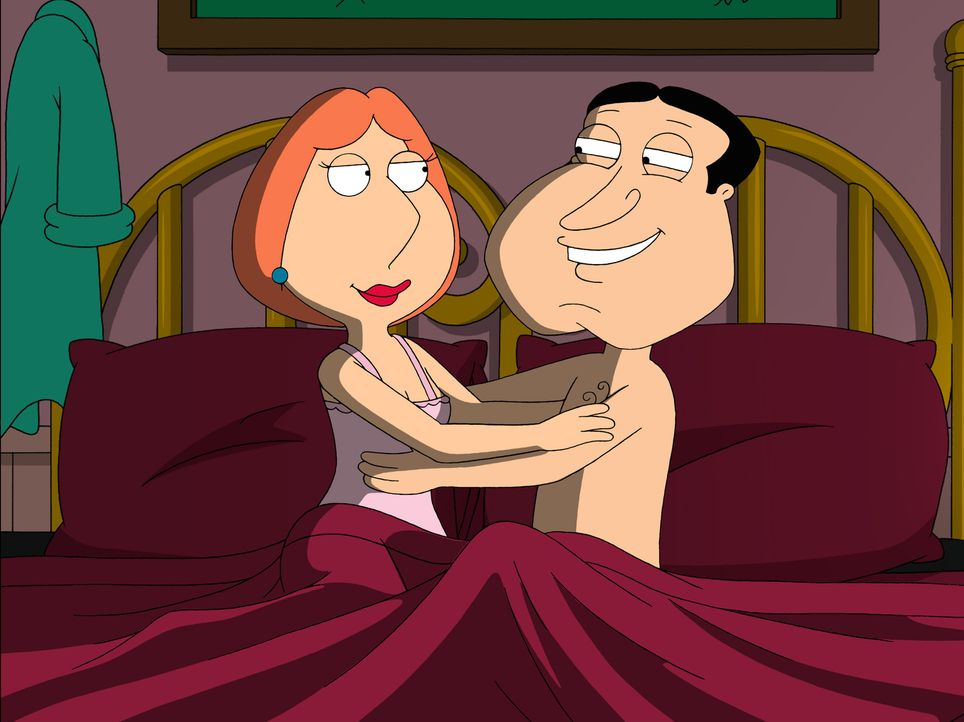 Quagmire (r.) und Lois (l.) landen gemeinsam im Bett ... - Bildquelle: 2007-2008 Twentieth Century Fox Film Corporation. All rights reserved.