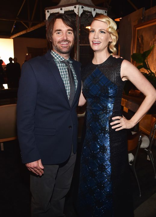 Will-Forte-January-Jones-150224-getty-AFP - Bildquelle: getty-AFP