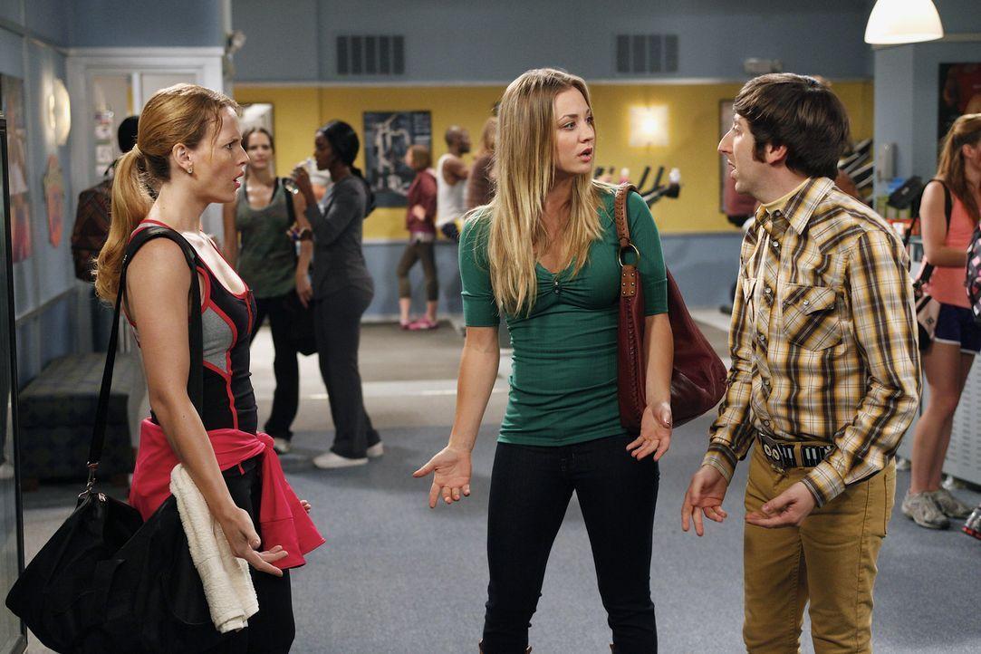Penny (Kaley Cuoco, M.) glaubt in Emily (Katie LeClerc, l.) die ideale Freundin für Raj gefunden zu haben. Gemeinsam mit Howard (Simon Helberg, r.)... - Bildquelle: Warner Bros. Television