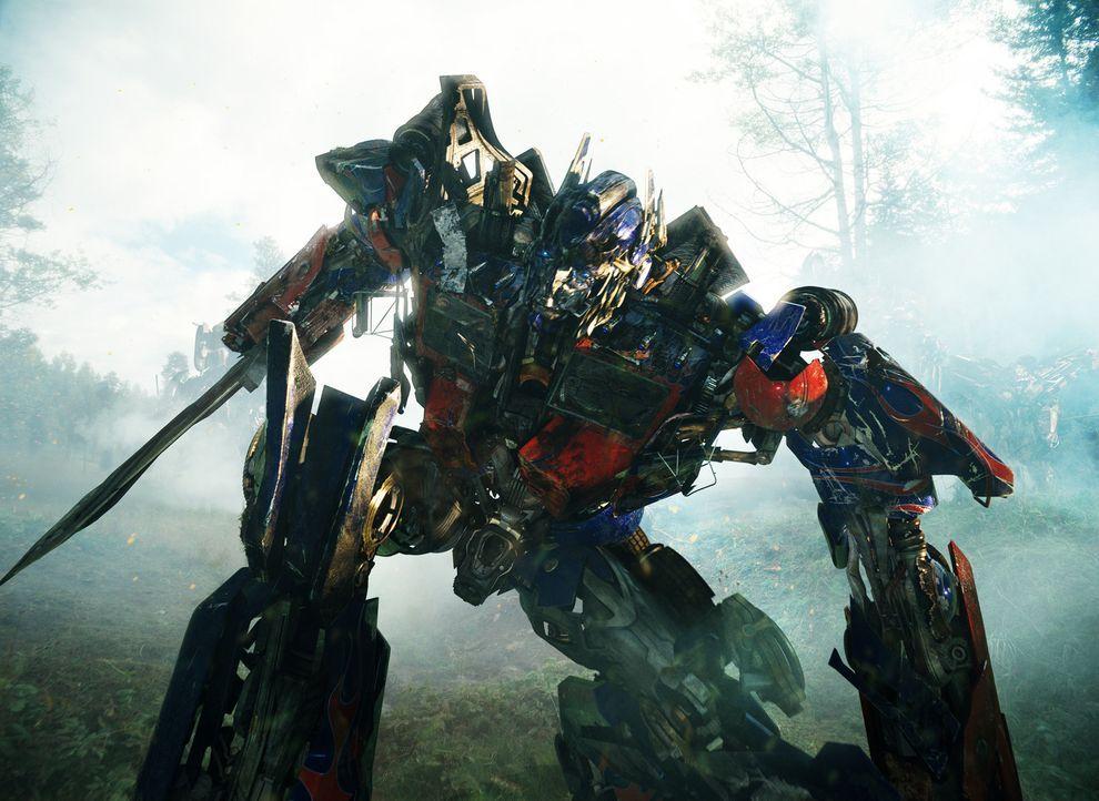 Unglücklicherweise gelingt es Megatron und den Deceptions, Optimus Prime (Bild) tödliche Verletzungen zuzufügen. Da kommt Jetfire eine wahrhaft m... - Bildquelle: MMIX DW STUDIOS L.L.C. and PARAMOUNT PICTURES CORPORATION. All Rights Reserved.