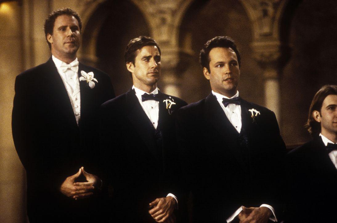 (v.l.n.r.) Frank (Will Ferrell), Mitch (Luke Wilson) und Beanie (Vince Vaughn) sind an der ersten großen Wegkreuzung in ihrem Leben angelangt: Sie... - Bildquelle: DreamWorks SKG