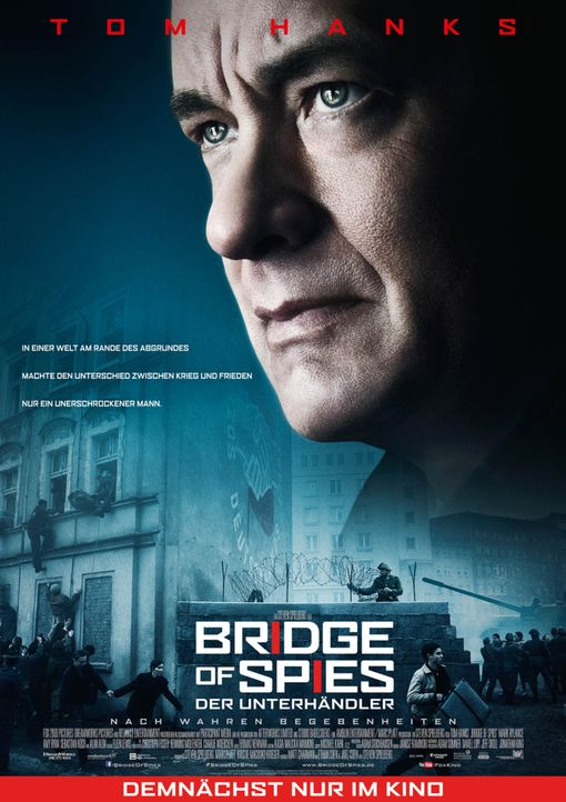Bridge-of-Spies-poster-2015Twentieth-Century-Fox - Bildquelle: 2015 Twentieth Century Fox