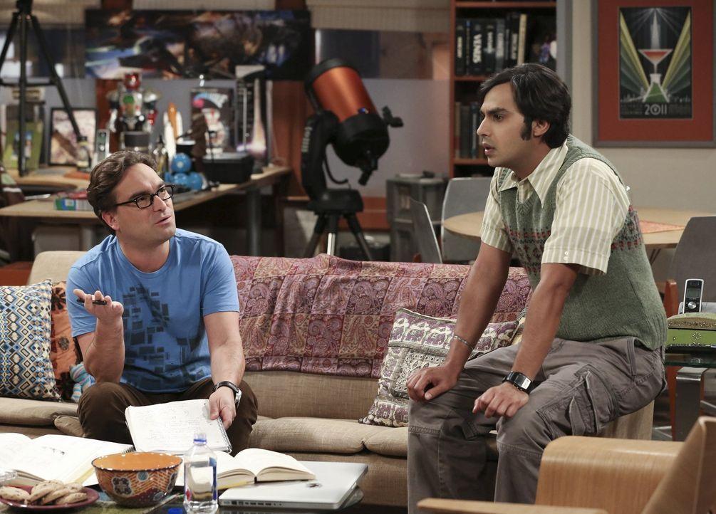 Schaffen es Leonard (Johnny Galecki, l.) und Raj (Kunal Nayyar, r.) auch ohne die Hilfe der anderen? - Bildquelle: Warner Bros. Television