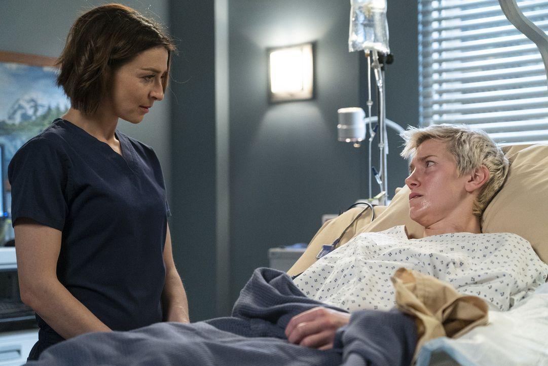 Dr. Amelia Shepherd (Caterina Scorsone, l.); Toby Donnelly (Arielle Hader, r.) - Bildquelle: Eric McCandless ABC Studios