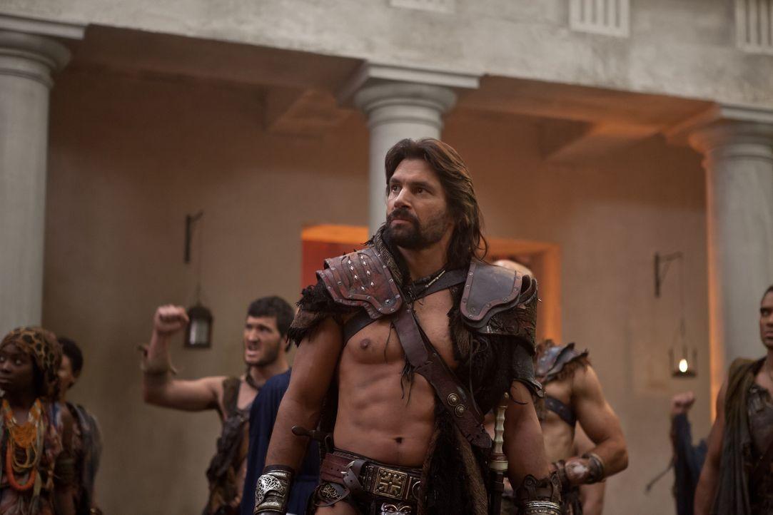 Geht in die Offensive und torpediert Spartacus' Befehle - mit schrecklichen Folgen: Crixus (Manu Bennett) ... - Bildquelle: 2012 Starz Entertainment, LLC. All rights reserved.