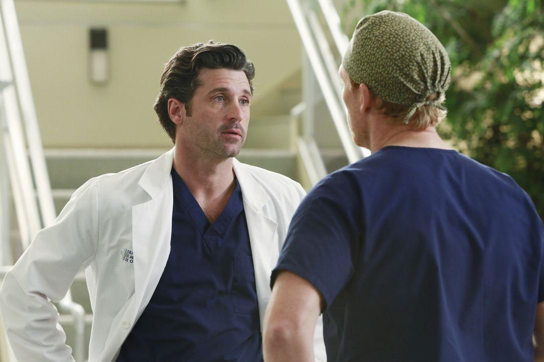 Derek (Patrick Dempsey, l.) und Owen (Kevin McKidd, r.) geraten heftig aneinander. Der Streit droht auszuarten ... - Bildquelle: ABC Studios