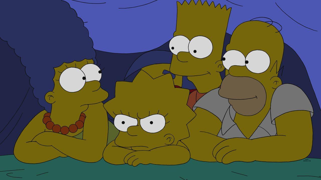 (v.l.n.r.) Marge; Lisa; Bart; Homer - Bildquelle: 2020 by Twentieth Century Fox Film Corporation.