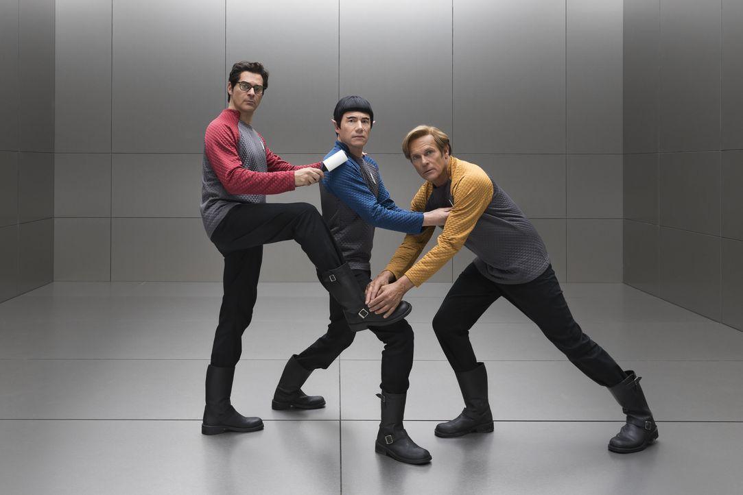"(v.l.n.r.) Schrotty (Rick Kavanian); Mr. Spuck (Michael ""Bully"" Herbig); Captain Kork (Christian Tramitz) - Bildquelle: Marco Nagel Warner Bros. / Marco Nagel"