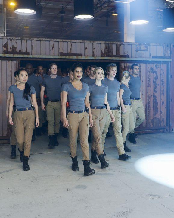 Müssen sich in Qunatico einer neuen Aufgabe stellen: Iris (Li Jun Li, vorne l.), Alex (Priyanka Chopra, vorne 2.v.l.), Shelby (Johanna Braddy, vorne... - Bildquelle: Philippe Bosse 2015 ABC Studios