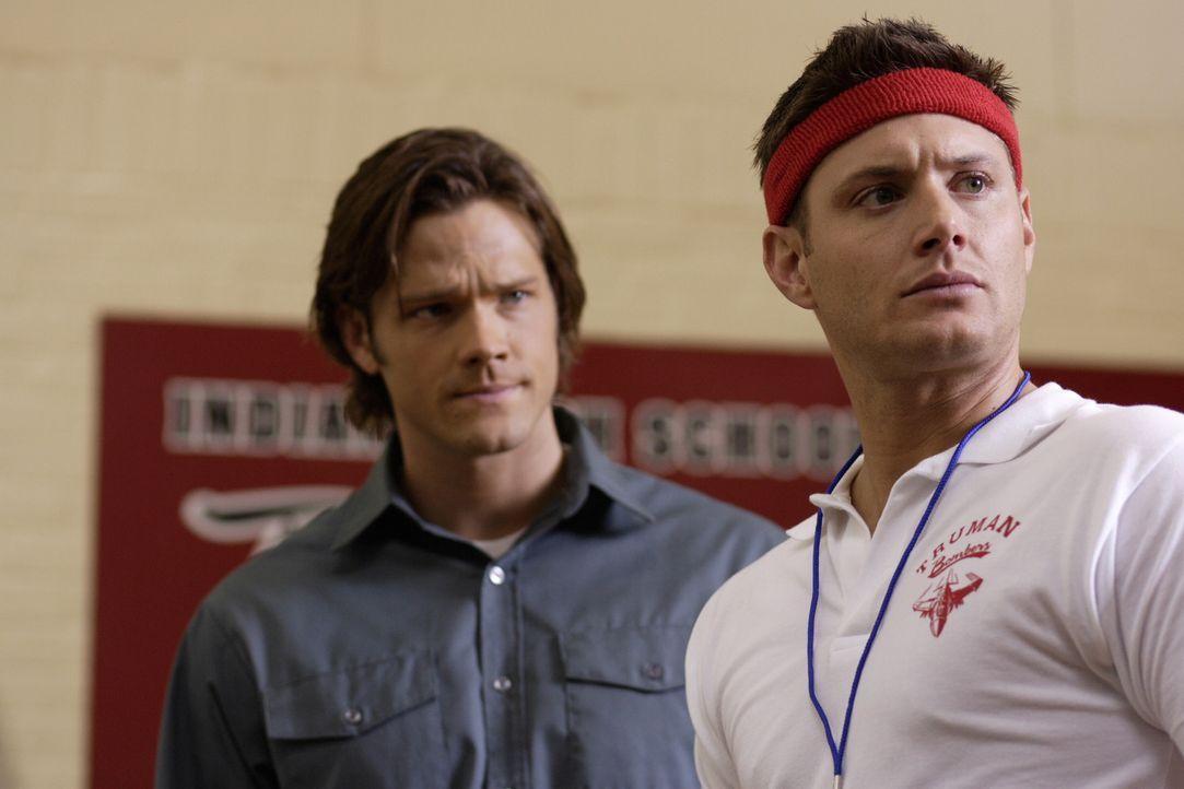 Ermitteln anonym an ihrer alten Schule, um eine mysteriöse Mordreihe aufzuklären: Sam (Jared Padalecki, l.) und Dean (Jensen Ackles, r.) ... - Bildquelle: Warner Bros. Television