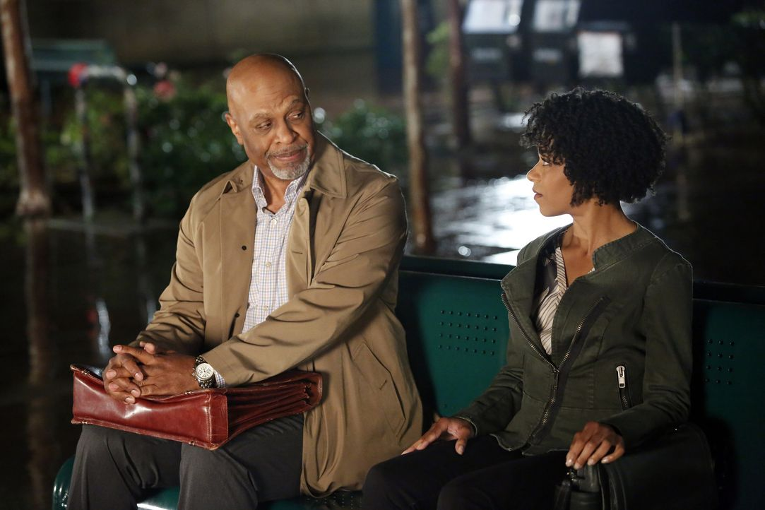 Ein kurzer Augenblick mit Dr. Maggie Pierce (Kelly McCreary, r.) verändert das Leben von Richard (James Pickens, Jr, l.) ... - Bildquelle: Kelsey McNeal 2014 American Broadcasting Companies, Inc. All rights reserved.