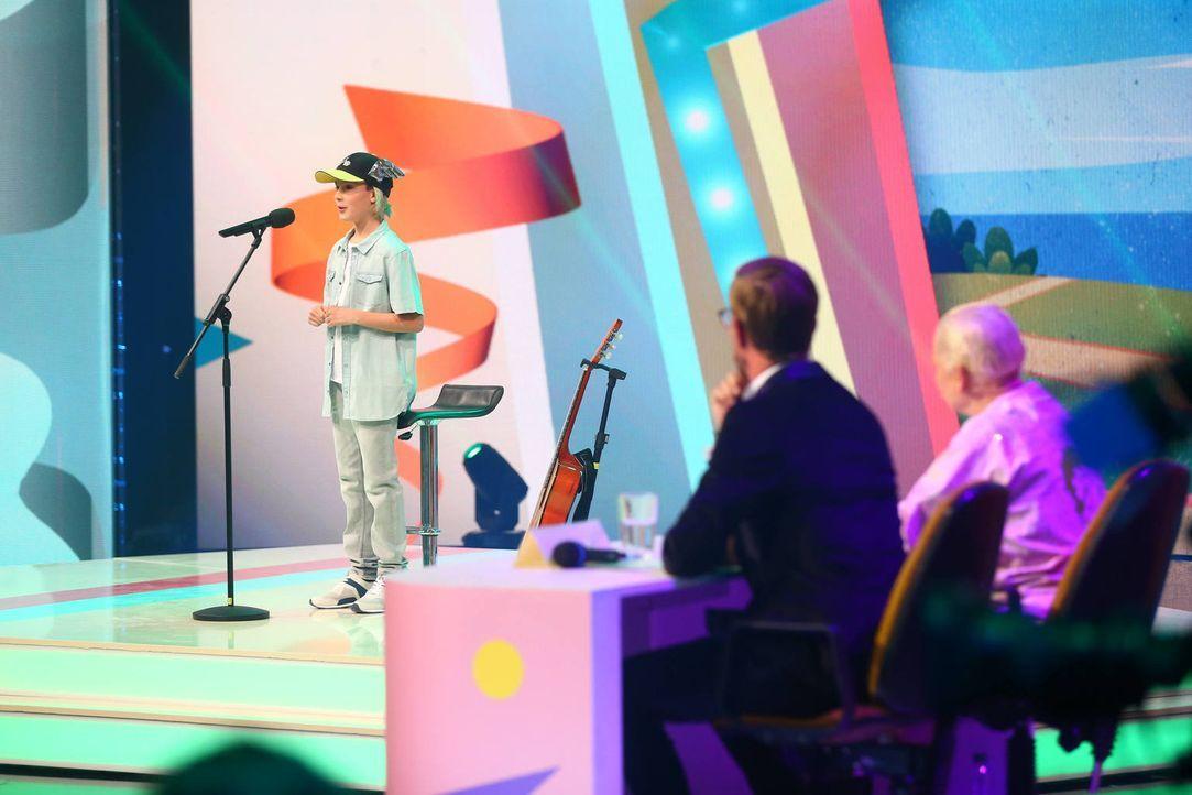 """Gelingt Joko (M.) mit seiner """"Mini Playgag Show"""" mit kleinen Comedy-Doubles der große Show-Sieg? - Bildquelle: Jens Hartmann ProSieben"""