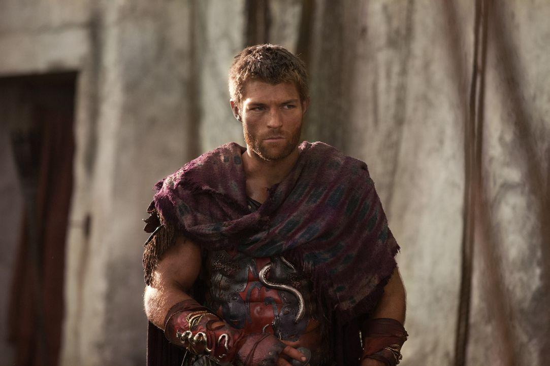 Zwischen Spartacus (Liam McIntyre) und Crixus herrscht Eiszeit, nachdem dieser die römischen Gefangenen abgeschlachtet hat. Als Spartacus auch noch... - Bildquelle: 2012 Starz Entertainment, LLC. All rights reserved.