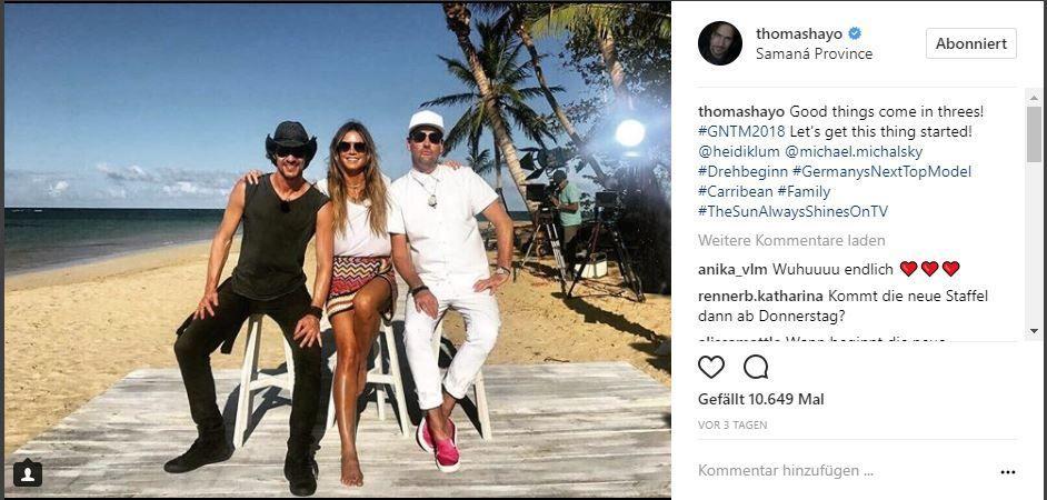 Thomas Hayo, Heidi Klum und Michael Michalsky - Bildquelle: https://www.instagram.com/thomashayo/