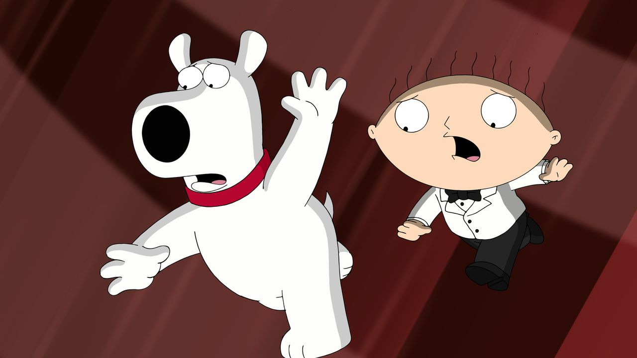 Entwickeln einen Plan gegen Alpträume: Stewie (r.) und Brian (l.) ... - Bildquelle: 2015-2016 Fox and its related entities. All rights reserved.