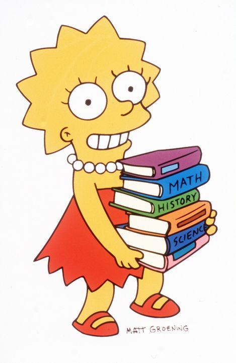 (9. Staffel) - Eindeutig die Cleverste in der Simpson-Familie: Tochter Lisa. - Bildquelle: und TM Twentieth Century Fox Film Corporation - Alle Rechte vorbehalten