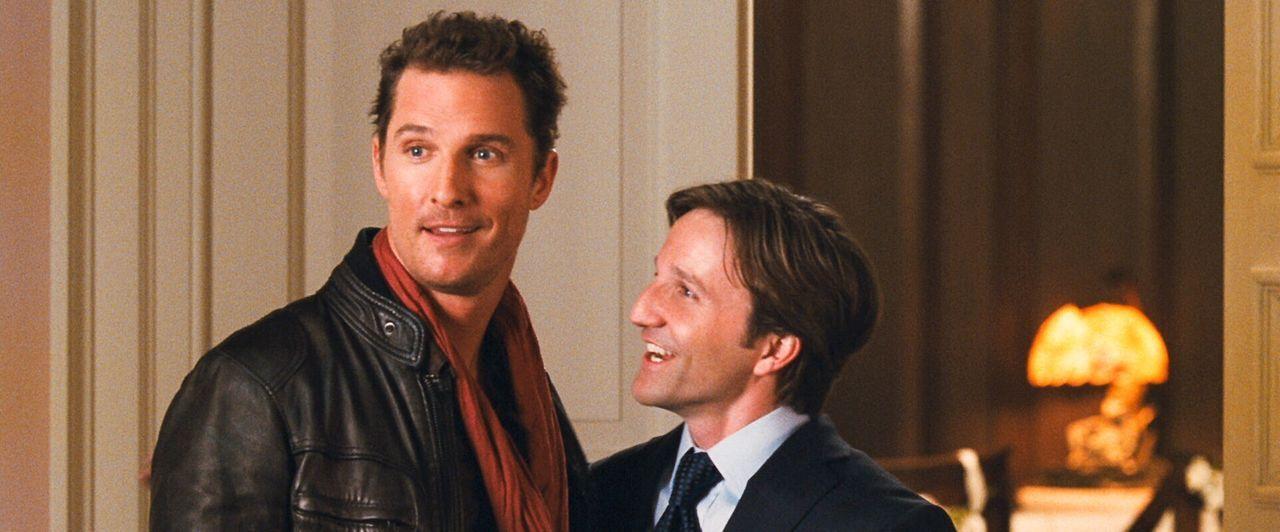 Promi-Fotograf Connor Mead (Matthew McConaughey, l.) liebt seinen Job, sein Leben und die Frauen. Der überzeugte Junggeselle kann daher gar nicht v... - Bildquelle: 2008   Warner Brothers