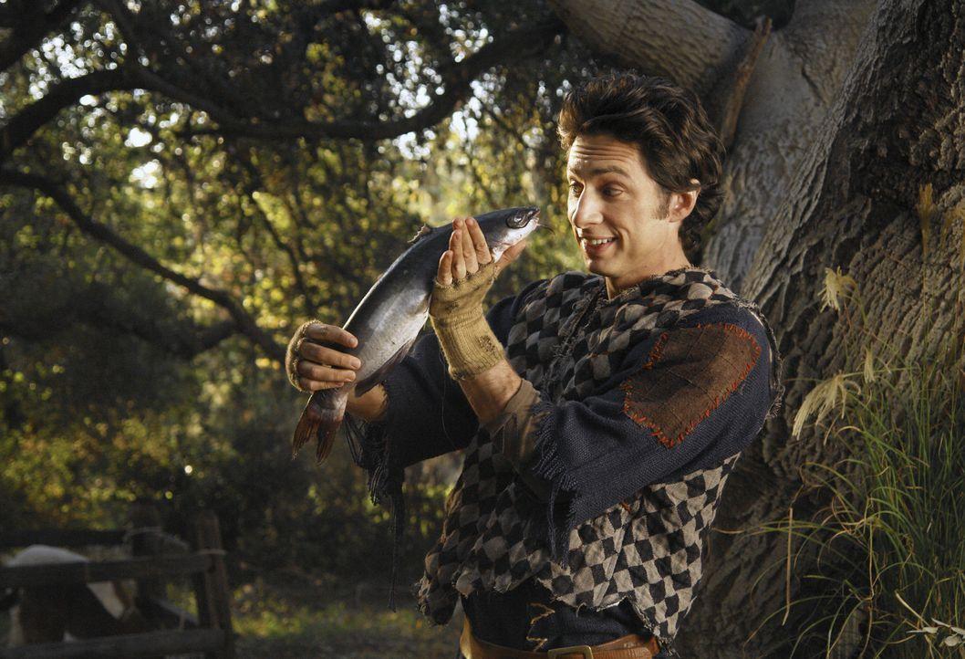 J.D. (Zach Braff) macht sich in der Geschichte von Dr. Cox nicht schlecht. Gemeinsam mit der Prinzessin begibt er sich in den verbotenen Wald ... - Bildquelle: Touchstone Television