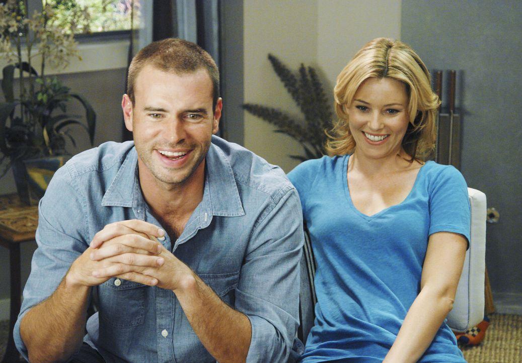 Mit Entsetzen stellt J.D. fest, dass Sean (Scott Foley, l.) der neue Freund von Kim (Elizabeth Banks, r.) ist ... - Bildquelle: Touchstone Television