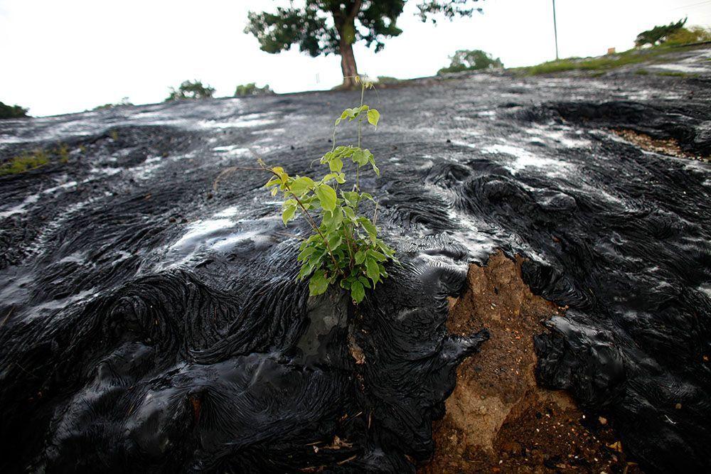 Asphaltsee - Bildquelle: Reuters Pictures