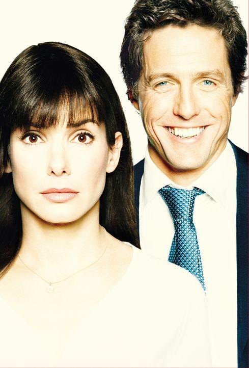 Ein Chef zum Verlieben mit Hugh Grant, r. und Sandra Bullock, l. - Bildquelle: Warner Bros.
