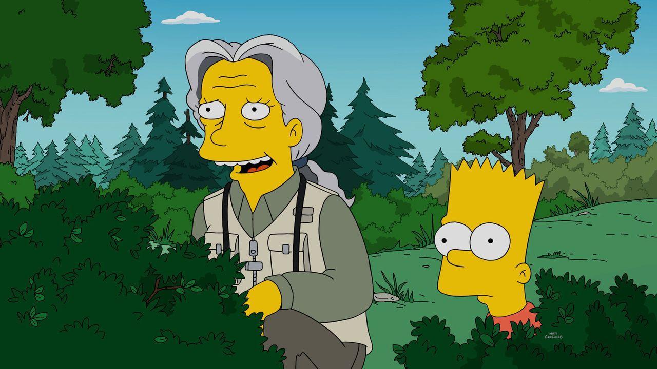 Hat eine echte Marktlücke, alte Frauen wie Phoebe (l.) gegen Geld beschäftigen, entdeckt: Bart (r.) ... - Bildquelle: 2016-2017 Fox and its related entities. All rights reserved.