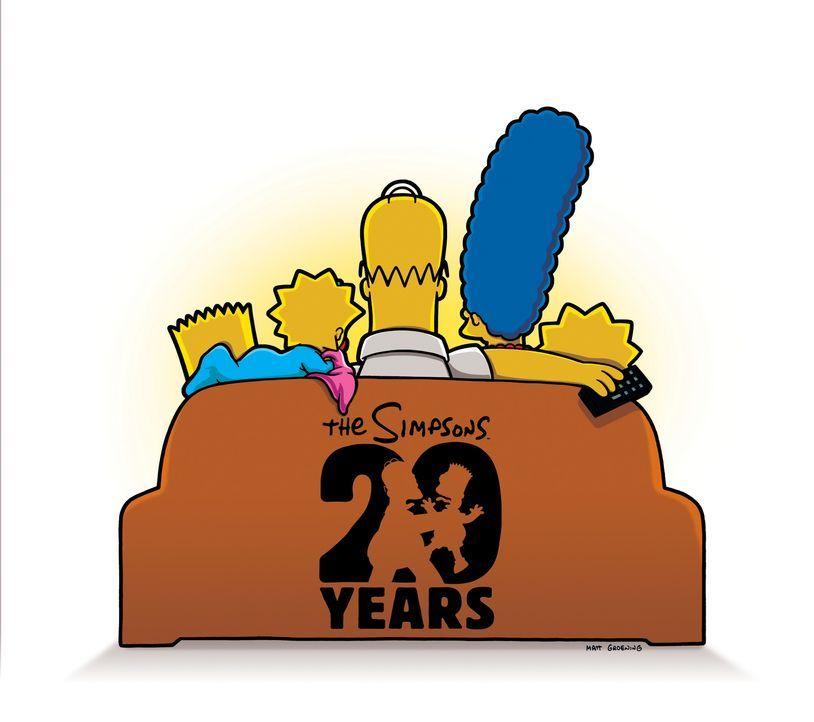 (20. Staffel) - Trotz mancher Auseinandersetzung halten die Simpsons immer fest zusammen. - Bildquelle: 2008-2009 Twentieth Century Fox Film Corporation