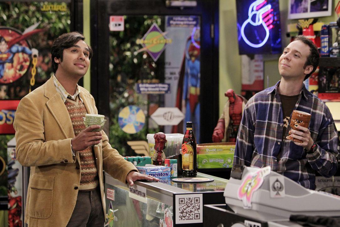 Was ist mit Stuart (Kevin Sussman, r.) und Raj (Kunal Nayyar, l.) nur los? - Bildquelle: Warner Bros. Television