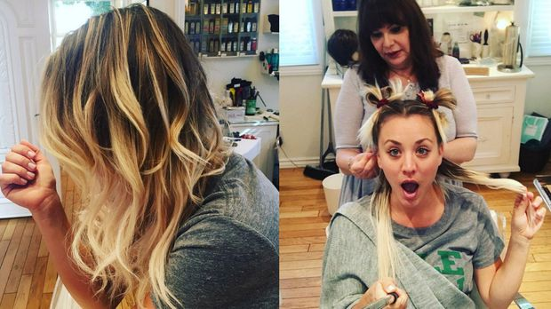 The Big Bang Theory Star Kaley Cuoco Endlich Wieder Lange Haare