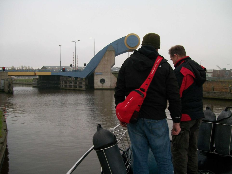 Carsten und Tonmann Tobi vor Slauerhoffbrug