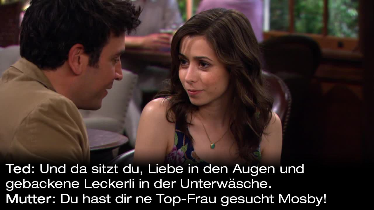 How-I-Met-Your-Mother-Zitate-Staffel-9-10-Mutter-Top-Frau - Bildquelle: 20th Century Fox Film Corporation all rights reserved.