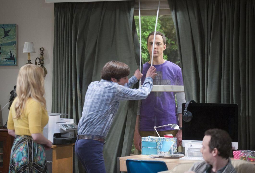 Als Amy mit Sheldon (Jim Parsons, 2.v.r.) Schluss macht, ist dieser sichtlich geschockt. Bernadette (Melissa Rauch, l.), Howard (Simon Helberg, 2.v.... - Bildquelle: Warner Brothers